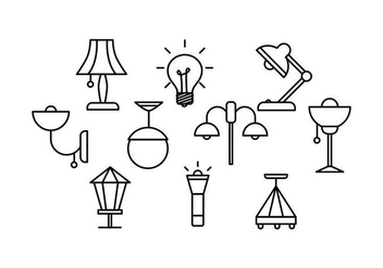 Free Lamps Line Vector - Free vector #421833