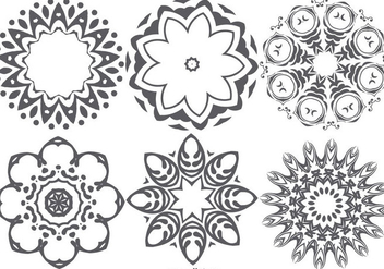 Decorative Abstract Shape Collection - vector gratuit #421853