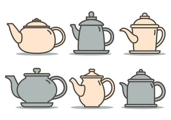 Cute teapot illustration vector - vector gratuit #421863