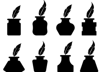 Free Inkwell Icons Vector - Kostenloses vector #421893