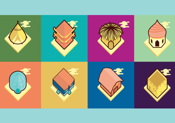 Traditional House Vector Illustration - Free vector #421913