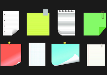Paper Vector Of Block Notes - vector gratuit #421923