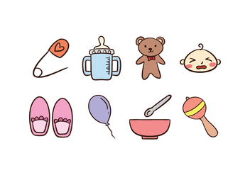 Baby Icon Set - vector #421993 gratis