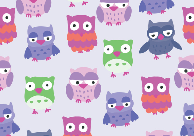 Colorful Buho Owl Pattern Vector - Free vector #422093