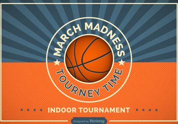 Free Basketball Madness Vector Retro Poster - Kostenloses vector #422173