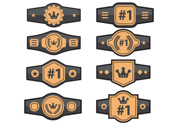 Set of Championship Belt Vectors - vector gratuit #422213
