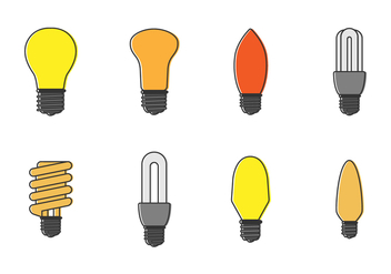 Free Set of Bulbs Vector - vector gratuit #422223