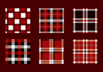 Flannel Red Black Texture Vector - vector gratuit #422343