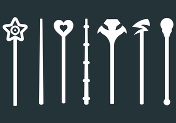 Free Magic Stick Icons Vector - vector gratuit #422373