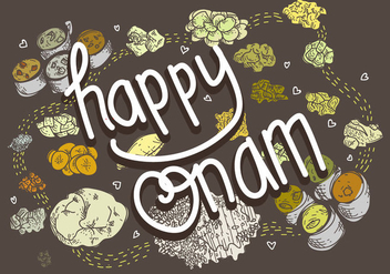 Free Onam Food Vector Illustration - Free vector #422443