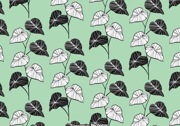 Elegant Leaves Seamless Pattern Vector - бесплатный vector #422463