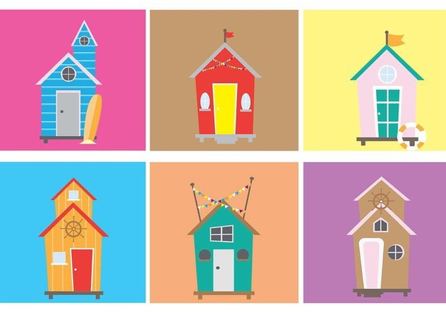 Fun and Quirky Cabana Vectors - vector gratuit #422793