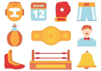 Free Boxing Design Element Collection Vector - Free vector #422823