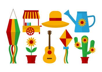 Free Festa Junina Vector Icons - бесплатный vector #422833