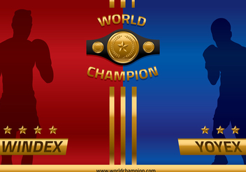 Championship Belt Head to Head Vector - vector gratuit #422843