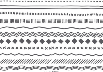 Cute Hand Drawn Sketchy Borders - Kostenloses vector #422853