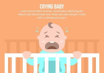 Crying Baby Background - vector gratuit #422893