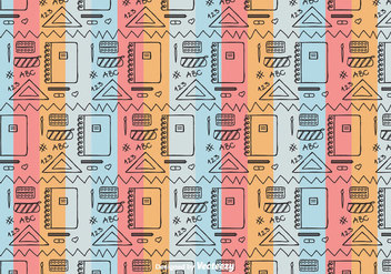 School Tool Pattern Vector - бесплатный vector #422963