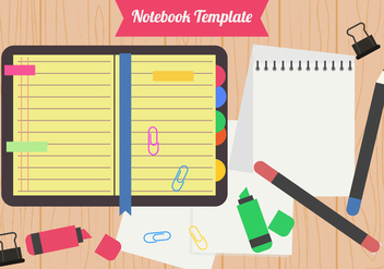 Flat Style Of Blank Block Notes - vector gratuit #423013