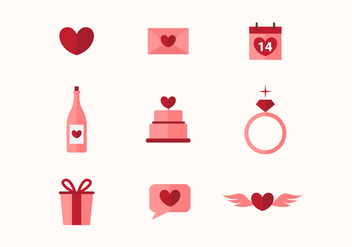 Free Valentine Vector Icons - vector gratuit #423023