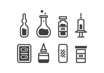 Medical supplies icons - Free vector #423063