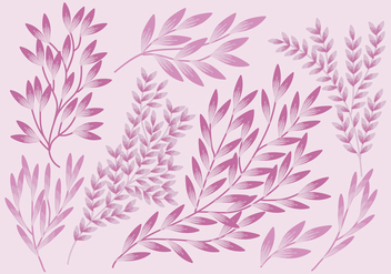 Vector Set of Branches - Free vector #423113