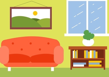 Free Vector Room Illustration - Free vector #423133