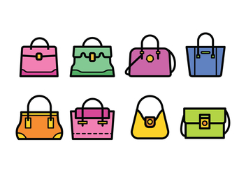 Versace Bag Icons - бесплатный vector #423163