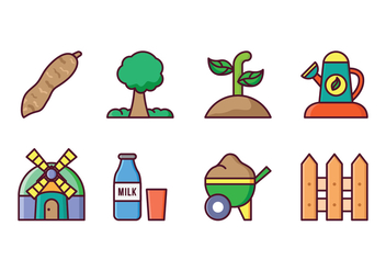 Agriculture Icon Set - vector #423183 gratis