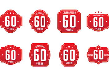 60th Label Collections - vector gratuit #423203