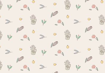 Plant Vector Pattern - Free vector #423233