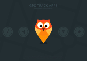 Owl GPS Location UI Vector Elements - Free vector #423313