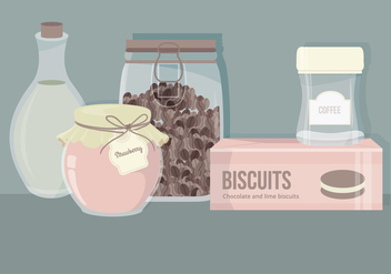 Vector Set of Kitchen Essentials - Free vector #423333