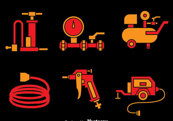 Air Pump And Compressor Vectors - vector gratuit #423353