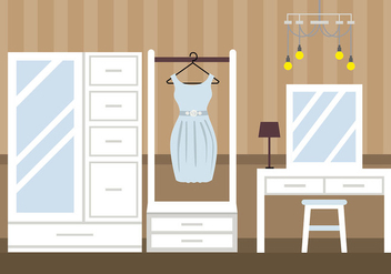 Dressing Room Classic Vector - бесплатный vector #423383