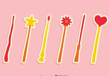 Nice Magic Stick Vectors - vector #423433 gratis