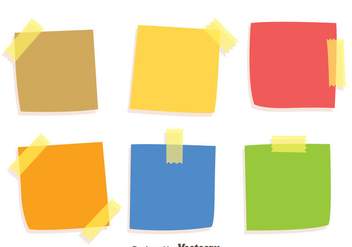 Colorful Stiky Notes Vectors - vector gratuit #423493