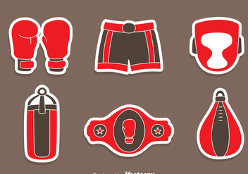 Great Boxing Element Vectors - Free vector #423503