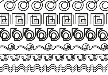 Abstract Line Style Borders - Vector - бесплатный vector #423513