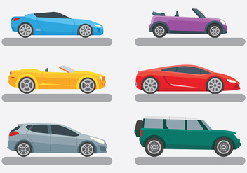 Bright Carros Icons Vector - Free vector #423523