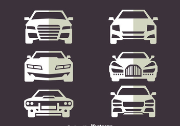 Car Front View Vectors - vector gratuit #423543