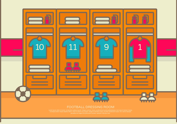 Vector Illustration Football Dressing Room - vector gratuit #423553