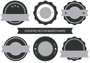 Retro Badge Shape Collection - бесплатный vector #423563