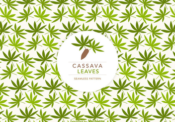 Cassava Leaves Vector Seamless Pattern - Kostenloses vector #423573