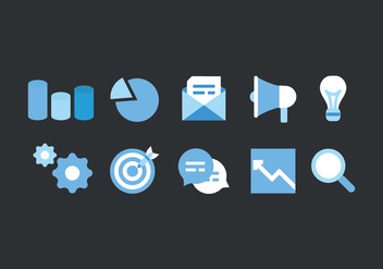 Vector Set of Marketing Icons - Free vector #423613