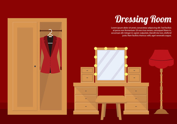 Dressing Room Elegant Vector - бесплатный vector #423633