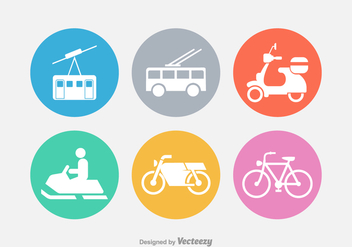 Transport Vector Silhouette Icons - бесплатный vector #423643
