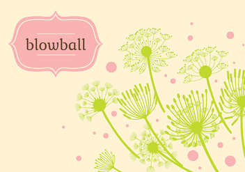 Blowball Background Illustration Vector - Kostenloses vector #423673