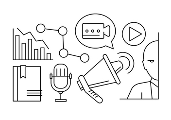 Free Linear Marketing Vector Icons - Free vector #423853