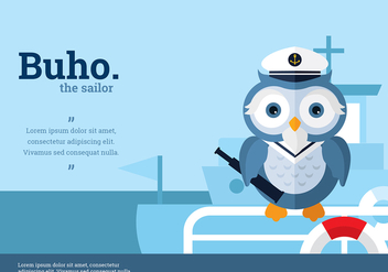 Buho Sailor Character Vector - бесплатный vector #423873